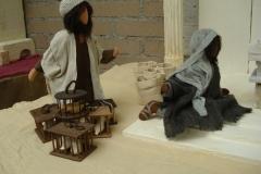 Händler vor dem Tempel